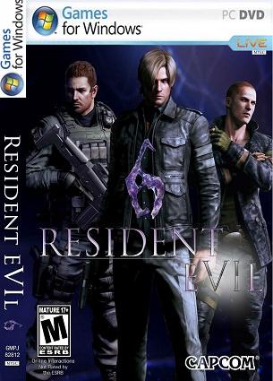 Resident Evil 6 PC DVD Capa